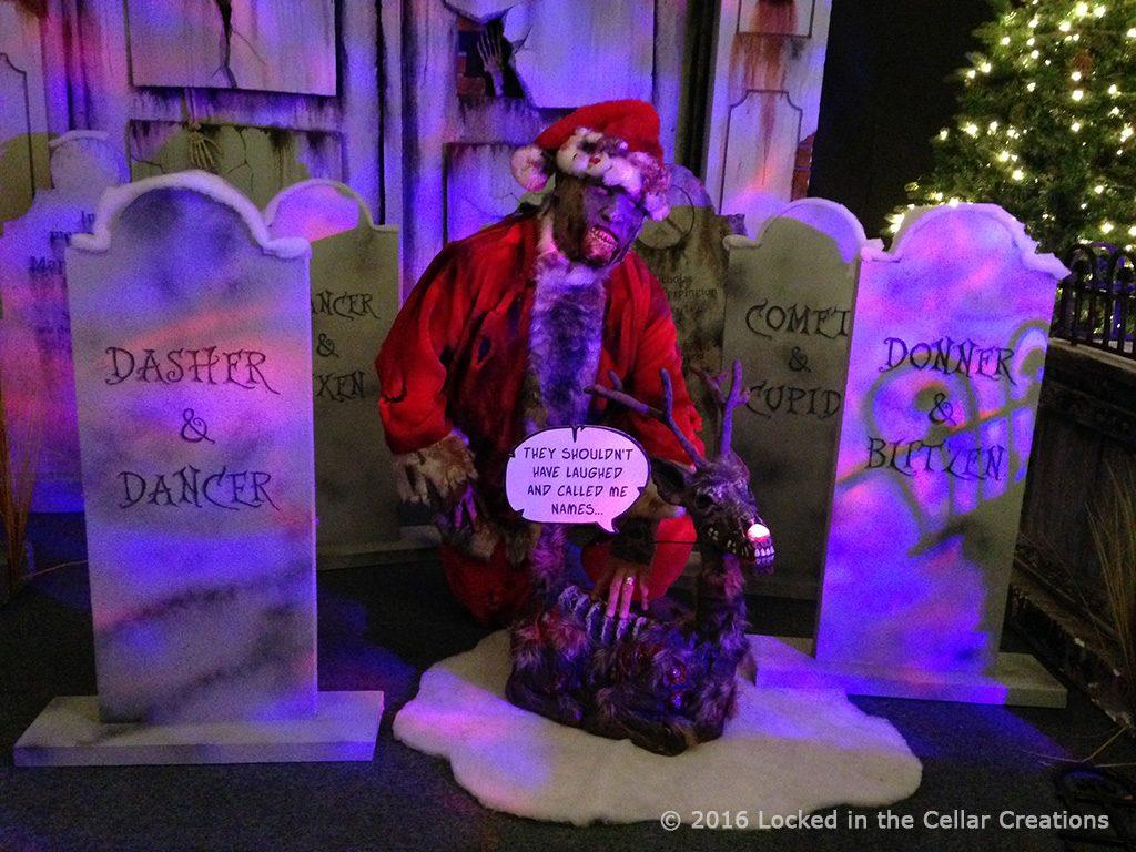 Zombie Santa and Rudolf (Christmas reindeer graveyard)