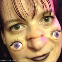 A funny and very bizarre looking make-up. People won't know where to look when you're wearing our Double Face Prosthetics Set!