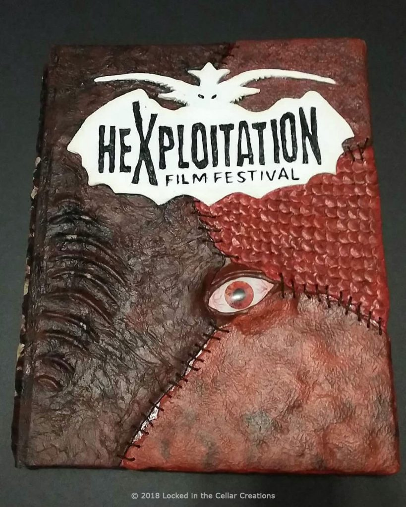Front Cover with Logo: Custom Horror Guest Book
