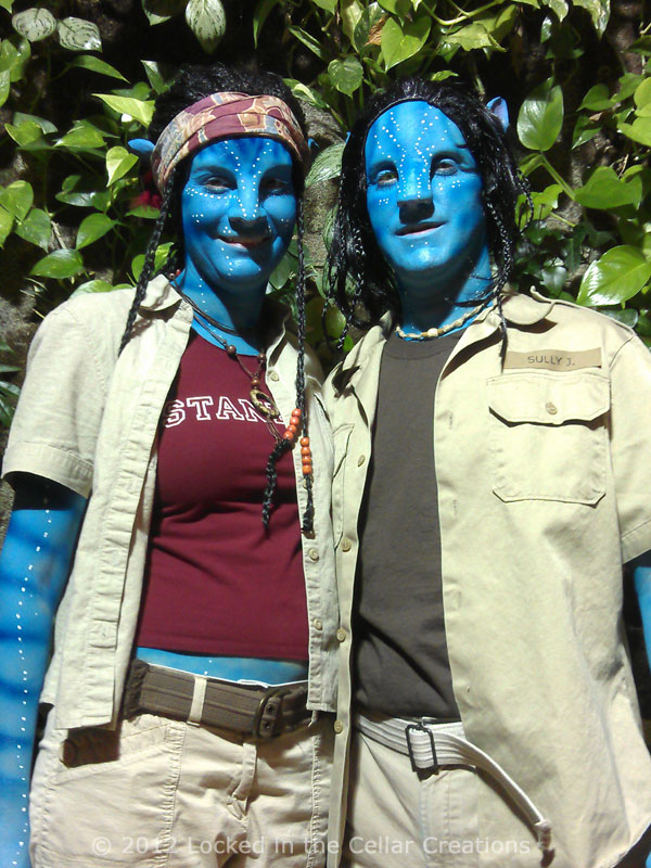Avatar SFX Makeups Grace and Jake, at the opening of the Avatar Exhibit, Kitchener