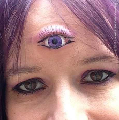 Super Realistic Third Eye Prosthetic with glossy eye insert, eyelash and super thin edges