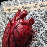 Human Heart Nailed to Wall