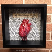 Human Heart Display Case, amazing gift for Halloween or Valentine's Day