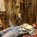 Mini Jason visits the Kill Shack at Frightmare in the Falls 2017.