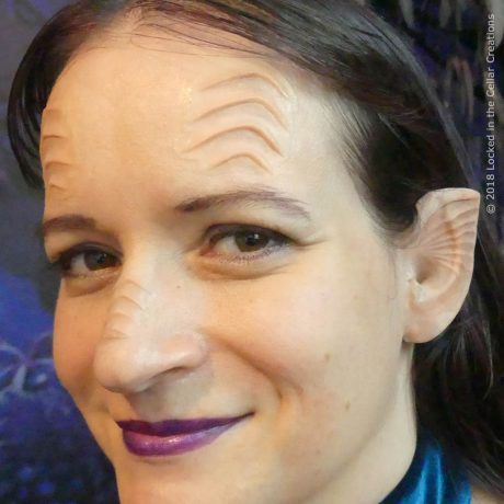Great Alien Makeup Prosthetic Set for Halloween or Cosplay. The beautiful ear design resembles a sea shell and can also be used for a mermaid makeup.